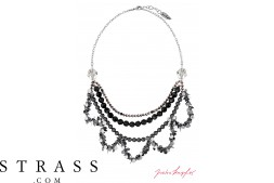 "Necklace ""Oslo Nights Statement"" , with original Swarovski Crystals"