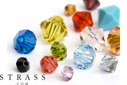 Glass Beads of Swarovski Crystals (Color Multi Size Mix) 312 Pieces