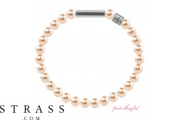 "Bracelet ""Pearl bracelet Mini"" Peach Pearl, with original Swarovski Crystals"
