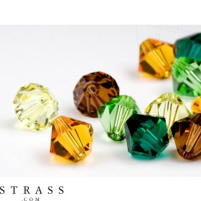 Glass Beads of Swarovski Crystals Bicone 4mm (Forest Mix) 96 Pieces