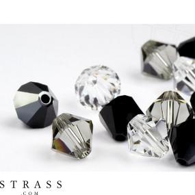 Glass Beads of Swarovski Crystals Bicone 4mm (Star Night Mix) 96 Pieces