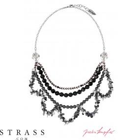 "Necklace ""Oslo Nights Statement"" , with original Swarovski Crystals"