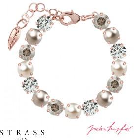 "Bracelet ""Rosi"" Medium Silver Shade Mix, with original Swarovski Crystals"