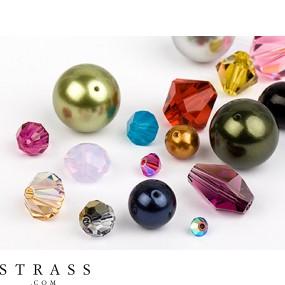 Glass Beads of Swarovski Crystals (Multi Form Mix) 48 Pieces