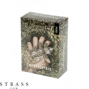 CRYSTAL PIXIE EDGE | DIY Nail design with Swarovski Crystals | Nail Box Pixie - Golden Dreams
