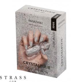 CRYSTAL PIXIE EDGE   DIY Nail design with Swarovski Crystals   Nail Box Pixie - Cute Mood