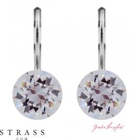 "Pierced Earrings ""Klassik"" Smoky Mauve, with original Swarovski Crystals (9.00mm)"