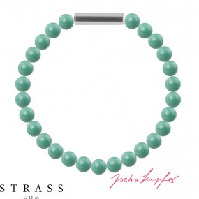 "Bracelet ""Pearl bracelet Mini"" Jade Pearl, with original Swarovski Crystals"