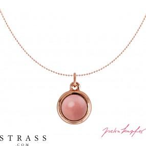 "Necklace ""Rosi"" Pink Coral Pearl, with original Swarovski Crystals"