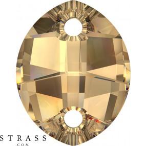 Swarovski Crystals 3224 Crystal (001) Golden Shadow (GSHA)