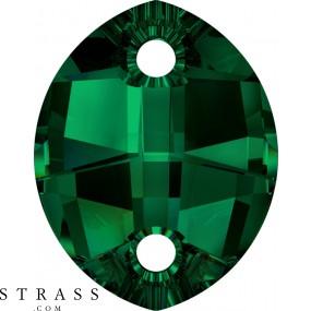 Swarovski Crystals 3224 MM 23,0X 18,0 EMERALD (1188077)