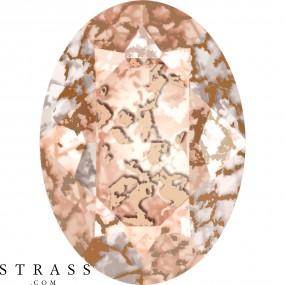 Swarovski Crystals 4120 Crystal (001) Rose Patina (ROSPA)