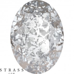 Swarovski Crystals 4120 Crystal (001) Silver Patina (SILPA)