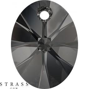 Swarovski Crystals 6028 Crystal (001) Silver Night (SINI)