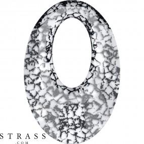 Swarovski Crystals 6040 MM 20,0 CRYSTAL BLACK-PAT (5098165)