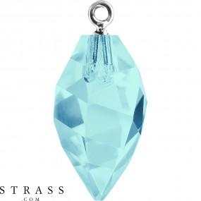Swarovski Crystals 6541 MM 34,5 AQUAMARINE RHOD (5156066)