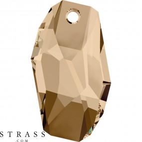 Swarovski Crystals 6673 Crystal (001) Golden Shadow (GSHA)