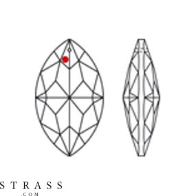 Swarovski Crystals 8745 MM 50,0X 29,0 CRYSTAL B (159902)