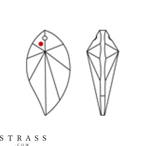 Swarovski Crystals 8806 MM 40,0X 21,0 CRYSTAL B (678518)