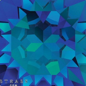 Swarovski Crystals 2493 Crystal (001) Bermuda Blue (BBL)
