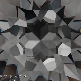 Swarovski Crystals 5052 Crystal (001) Silver Night (SINI)