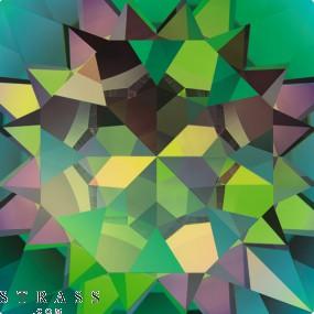 Swarovski Crystals 6621 Crystal (001) Vitrail Medium (VM)