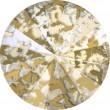 Swarovski Crystals 1122 Crystal (001) Gold Patina (GOLPA)