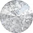 Swarovski Crystals 1122 Crystal (001) Silver Patina (SILPA)
