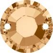 Swarovski Crystals 3204 Crystal (001) Golden Shadow (GSHA)