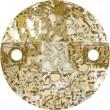 Swarovski Crystals 3220 Crystal (001) Gold Patina (GOLPA)