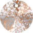 Swarovski Crystals 6428 Crystal (001) Rose Patina (ROSPA)