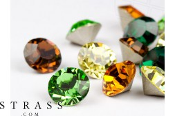 Chatons of Swarovski Crystals PP32 (Forest Mix) 100 Pieces