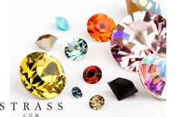 Chatons of Swarovski Crystals (Color Multi Size Mix) 972 Pieces