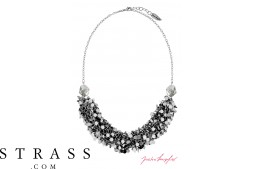 "Necklace ""Las Vegas Ghost Bar Silvershade"" , with original Swarovski Crystals"