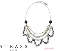 "Necklace ""Oslo Statement"" , with original Swarovski Crystals"