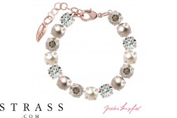 "Bracelet ""Rosi"" Medium Silver Shade Mix, with original Swarovski Crystals"