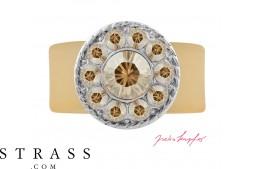 "Ring ""Inka"" Golden Shadow, with original Swarovski Crystals"