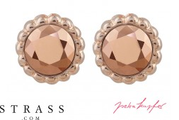 "Stud Earrings ""Sultan"" Rosé Gold with original Swarovski Crystals"