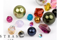 Glass Beads of Swarovski Crystals (Multi Form Mix) 48 Pieces