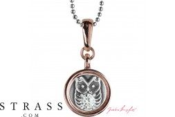 "Necklace ""Chelsea Owl"", with original Swarovski Crystals"