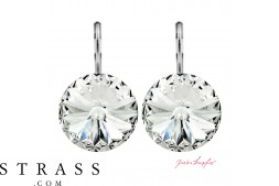 "Pierced Earrings ""Arrondi"" Crystal, with original Swarovski Crystals (14.00mm)"