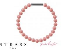 "Bracelet ""Pearl bracelet Mini"" Pink Coral Pearl, with original Swarovski Crystals"