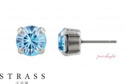 "Stud Earrings ""Sensillo"" Aquamarine with original Swarovski Crystals"