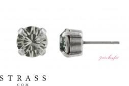 "Stud Earrings ""Sensillo"" Black Diamond with original Swarovski Crystals"