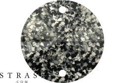 Swarovski Crystals 3200/B MM 12,0 MARBLED BLACK (1077611)