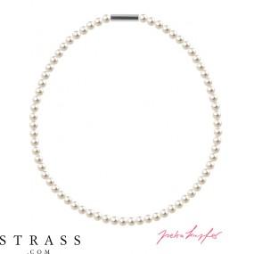 "Necklace ""Pearl Necklace Mini"" Cream Pearl, with original Swarovski Crystals"