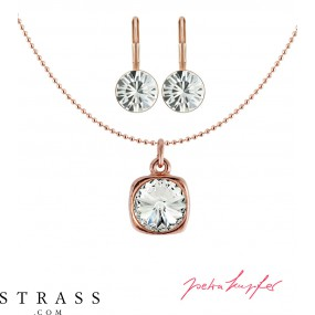 "Jewelry Set ""Roségold Rivoli"" Crystal, with original Swarovski Crystals"