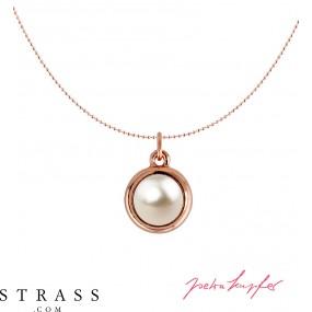 "Necklace ""Rosi"" Cream Pearl, with original Swarovski Crystals"