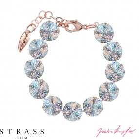 "Bracelet ""Rosi Rivoli"" Medium Crystal White Patina, with original Swarovski Crystals"