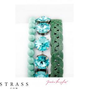 """Bracelet Set """"Temper"""" Türkis, with original Swarovski Crystals"""